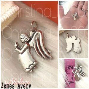Rare Large JAMES AVERY Praying Angel charm